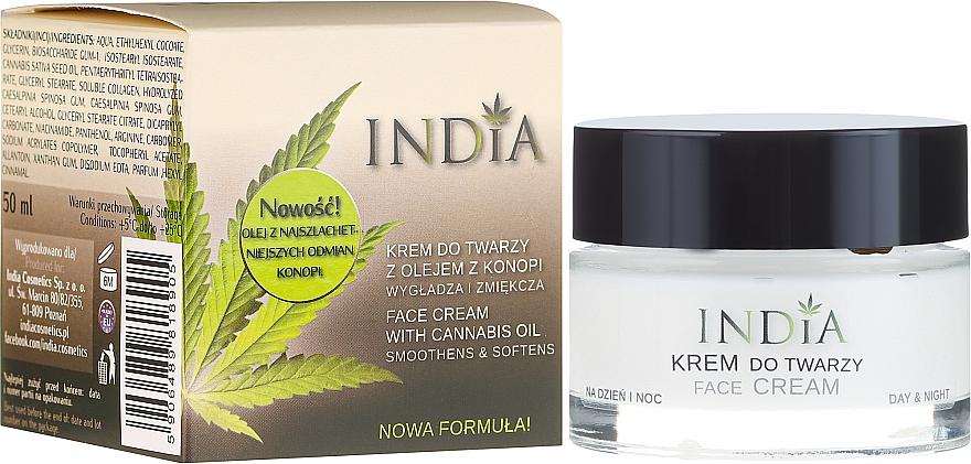 Crema viso con olio di canapa - India Face Cream With Cannabis