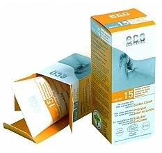 Profumi e cosmetici Crema solare con estratto di melograno e olivello spinoso, SPF 15 - Eco Cosmetics Suntan Cream SPF 15