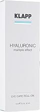 Profumi e cosmetici Gel ialuronico per palpebre - Klapp Hyaluronic Eye Roll-On
