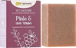 """Profumi e cosmetici Sapone biologico """"Mirto e uva rossa"""" - La Saponaria Bio Sapone"""