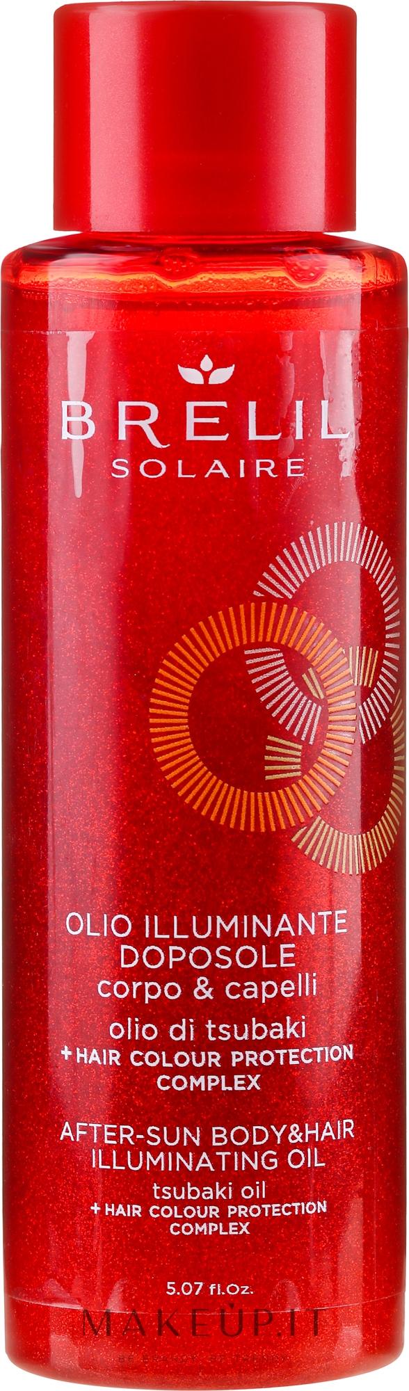 Olio capelli e corpo dopo sole - Brelil Solaire Oil — foto 150 ml