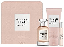 Profumi e cosmetici Abercrombie & Fitch Authentic - Set (edp/100ml + b/lot/200ml + edp/15ml)