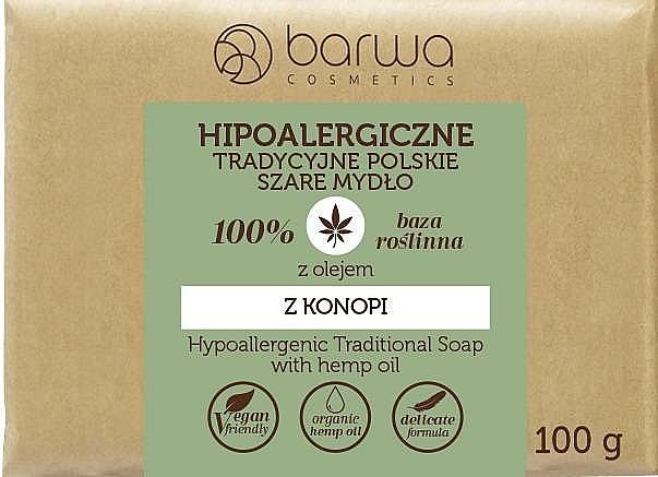Sapone ippoalergenico all'olio di canapa - Barwa Hypoallergenic Traditional Soap With Hemp Oil