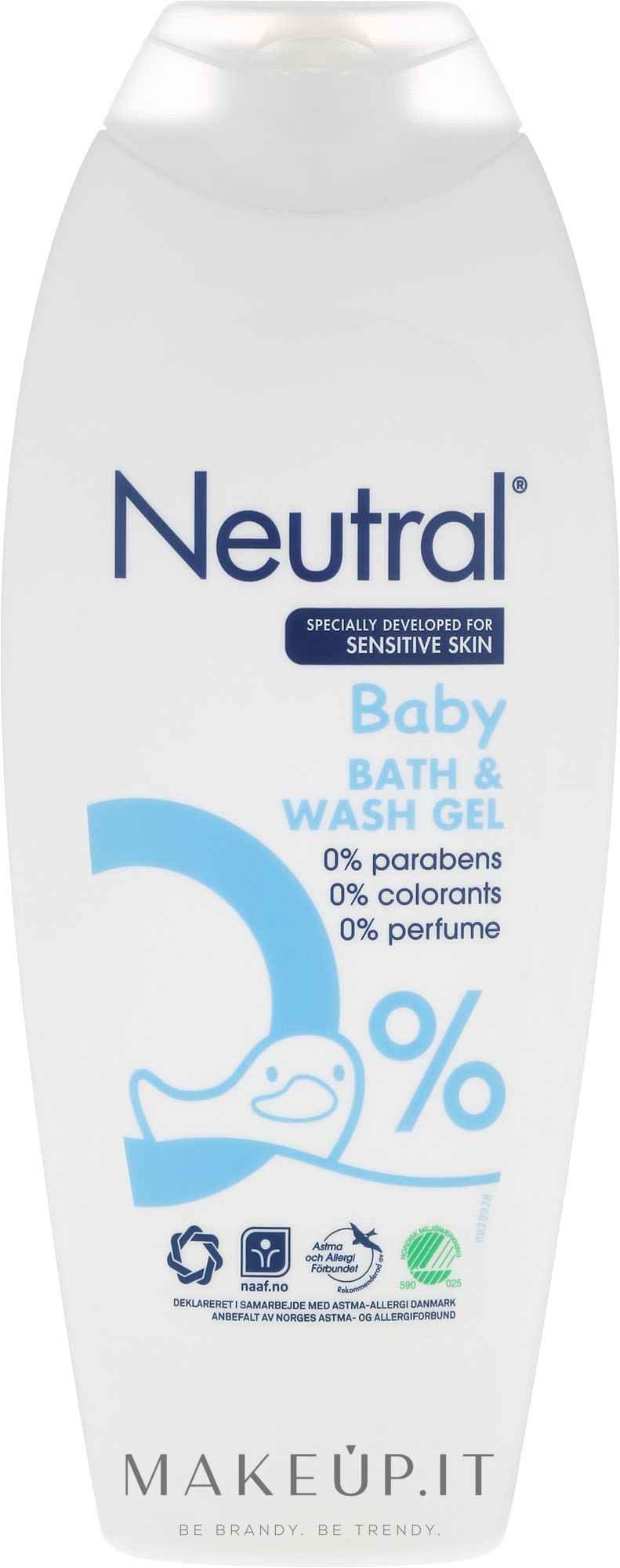 Gel da bagno per bambini - Neutral Baby Bath & Wash Gel — foto 250 ml