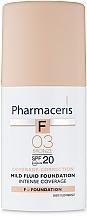 Profumi e cosmetici Fondotinta SPF20 - Pharmaceris F Intense Coverage Mild Fluid Foundation SPF20