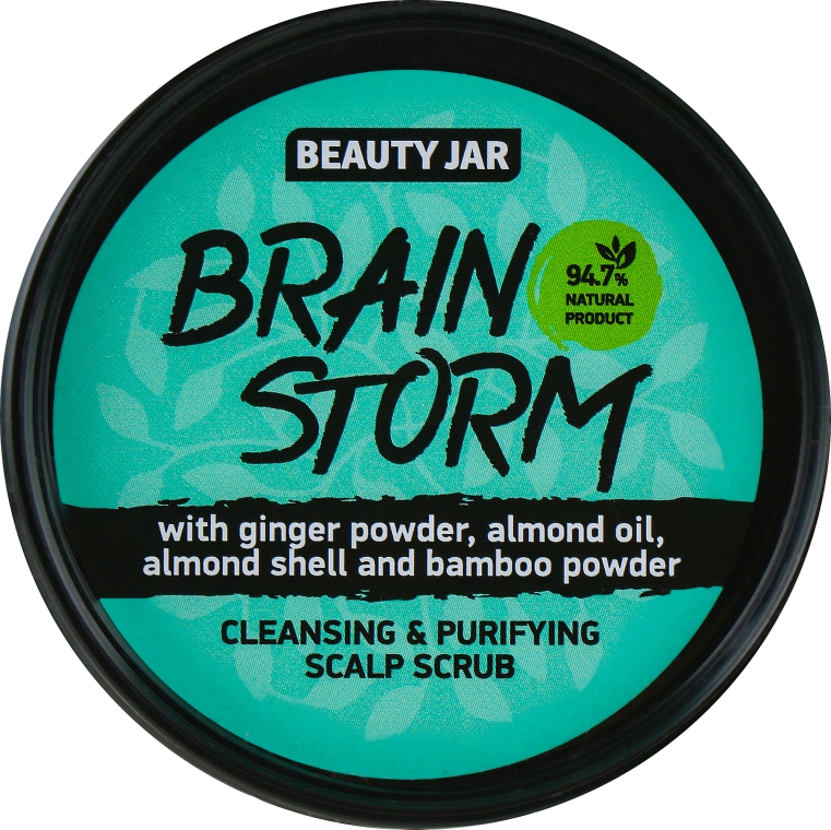 "Scrub detergente per cuoio capelluto ""Brain Storm"" - Beauty Jar Cleansing & Purifying Scalp Scrub"