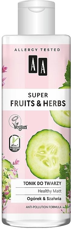 Tonico viso - AA Super Fruits & Herbs Healthy Matt