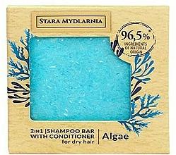 """Profumi e cosmetici Shampoo-condizionante solido """"Alghe"""" - Stara Mydlarnia Algae 2in1 Shampoo Bar"""
