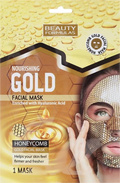 Maschera viso nutriente al miele e acido ialuronico - Beauty Formulas Gold Nourishing Facial Mask