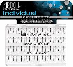 Profumi e cosmetici Ciglia finte a ciuffetti - Ardell Duralash Individual Regular Medium Black Lashes