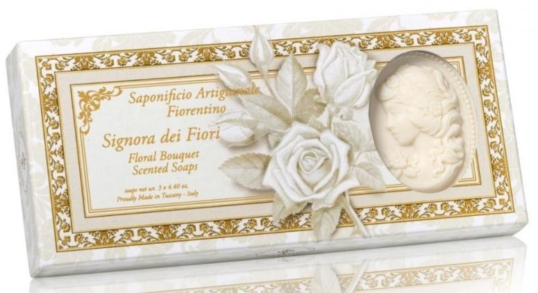 """Set di sapone naturale """"Bouquet di fiori"""" - Saponificio Artigianale Floral Bouquet Soap (soap/3pcsx125g)"""