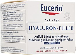 Profumi e cosmetici Crema antirughe da notte, per tutti i tipi di pelle - Eucerin Hyaluron-Filler Night