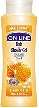 "Profumi e cosmetici Gel doccia e bagnoschiuma 2in1 ""Latte e miele"" - On Line Daily Care Bath & Shower Gel Milk & Honey"