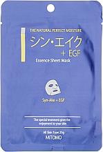 """Profumi e cosmetici Maschera in tessuto """"Peptidi di serpente + EGF"""" - Mitomo Essence Sheet Mask Syn-Ake + EGF"""
