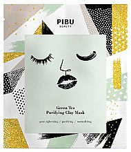 Set - Pibu Beauty Green Tea Purifying Clay Mask Set (f/mask/5x18g) — foto N2