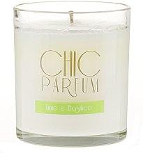 Profumi e cosmetici Candela profumata - Chic Parfum Lime E Basilico Candle