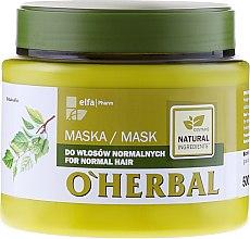 Maschera per capelli normali, con estratto di betulla - O'Herbal — foto N1