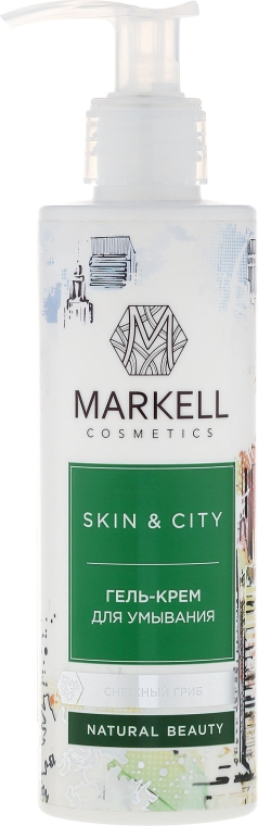 "Gel-crema detergente ""Fungo di neve"" - Markell Cosmetics Skin&City Face Mask"