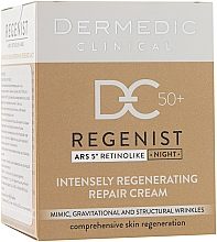 Profumi e cosmetici Crema rigenerante da notte 50+ - Dermedic Regenist ARS 5 Retinolike Night Intensely Regenerating Repair Cream