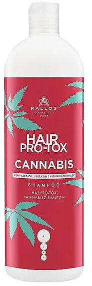 Shampoo per capelli con olio di semi di canapa - Kallos Pro-tox Cannabis Shampoo