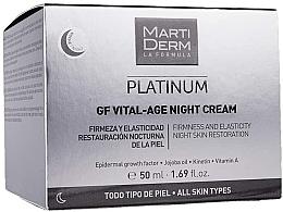 Profumi e cosmetici Crema viso da notte - MartiDerm Platinum Gf Vital Age Night Cream