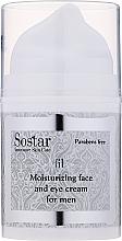 Profumi e cosmetici Crema idratante per viso e contorno occhi - Sostar Moisturizing Moisturizing Face & Eye Cream For Men