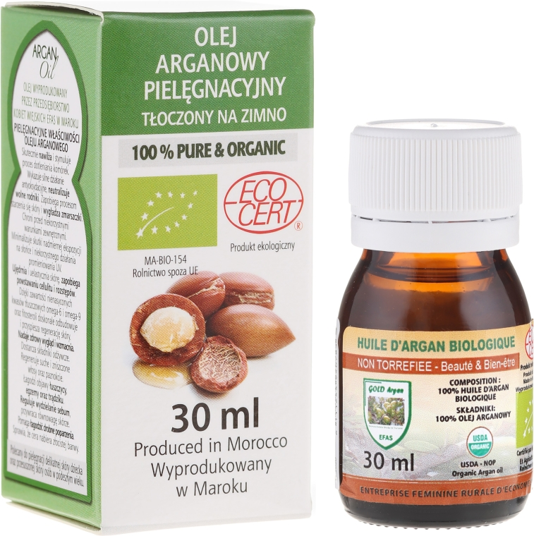 Olio di argan, bottiglia di vetro - Efas Argan Oil 100% BIO