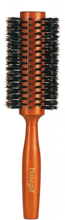 Spazzola per capelli, rotonda 9879, con setole naturali 28/58 mm - Donegal — foto N1