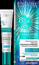 Profumi e cosmetici Crema gel contorno occhi - Eveline Cosmetics Hyaluron Clinic 30+/40+