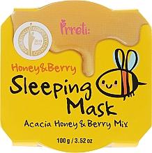 Profumi e cosmetici Maschera da notte nutriente con miele di acacia e frutti di bosco - Prreti Honey & Berry Sleeping Mask