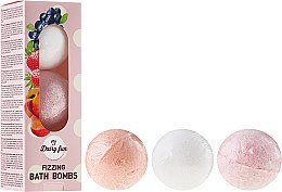 """Profumi e cosmetici Bombe da bagno """"Mirtillo, fragola, pesca"""" - Delia Dairy Fun Milky Bath Balls"""