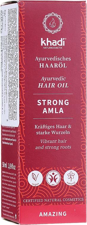 Olio rinforzante per capelli - Khadi Ayuverdic Strong Amla Hair Oil