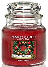 "Profumi e cosmetici Candela in vetro ""Corona di mele rosse"" - Yankee Candle Red Apple Wreath"
