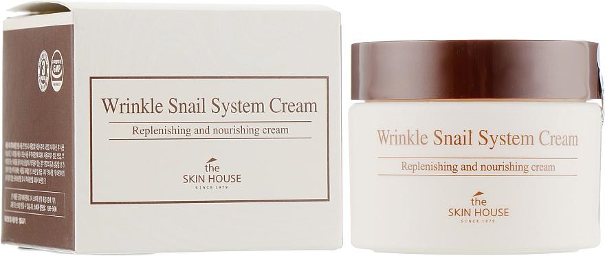 Crema viso antietà alla bava di lumaca - The Skin House Wrinkle Snail System Cream