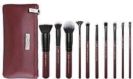 Profumi e cosmetici Set di pennelli trucco con beauty case, T259 + CB004, 10 pezzi - Jessup