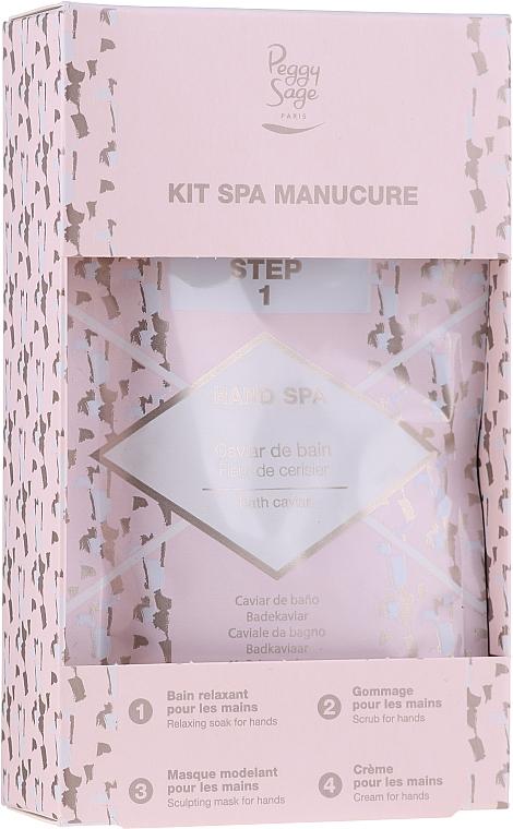 Set - Peggy Sage Spa Manucure Kit (bath/caviar/20g + peeling/gel/15ml + h/masque/15ml + h/cr/15ml) — foto N1