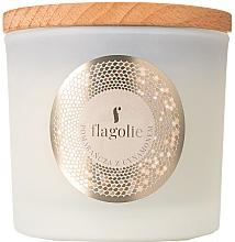 "Profumi e cosmetici Candela profumata in bicchiere ""Arancia e cannella "" - Flagolie Fragranced Candle Orange & Cinnamon"