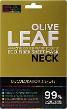 Profumi e cosmetici Maschera express per il collo - Beauty Face IST Booster Neck Mask Olive Leaf