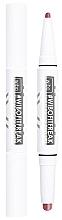 Profumi e cosmetici Rossetto e eyeliner 2 in 1 con finitura satinata - Wibo FitFreak Sweat Proof Duo Lips (1pz)