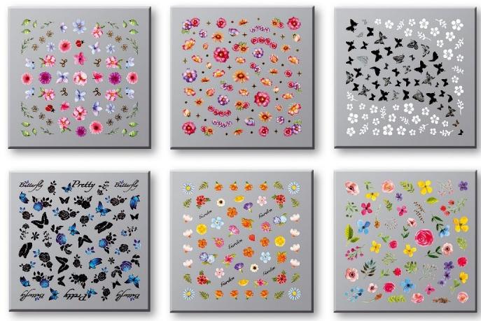 Set adesivi unghie 42751 - Top Choice Nail Decorations Stickers Set