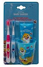 Profumi e cosmetici Set - Pinkfong Baby Shark (tpst/75ml + tbrsh/2pz + glass)