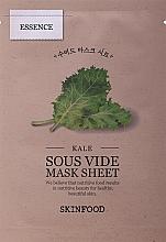 Profumi e cosmetici Maschera viso in tessuto - Skinfood Kale Sous Vide Mask Sheet