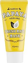 """Profumi e cosmetici Maschera peeling detergente e illuminante """"Papaya"""" - A'pieu Fresh Mate Mask"""
