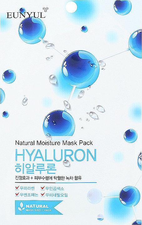 Maschera viso in tessuto all'acido ialuronico - Eunyul Natural Moisture Hyaluron Mask Pack