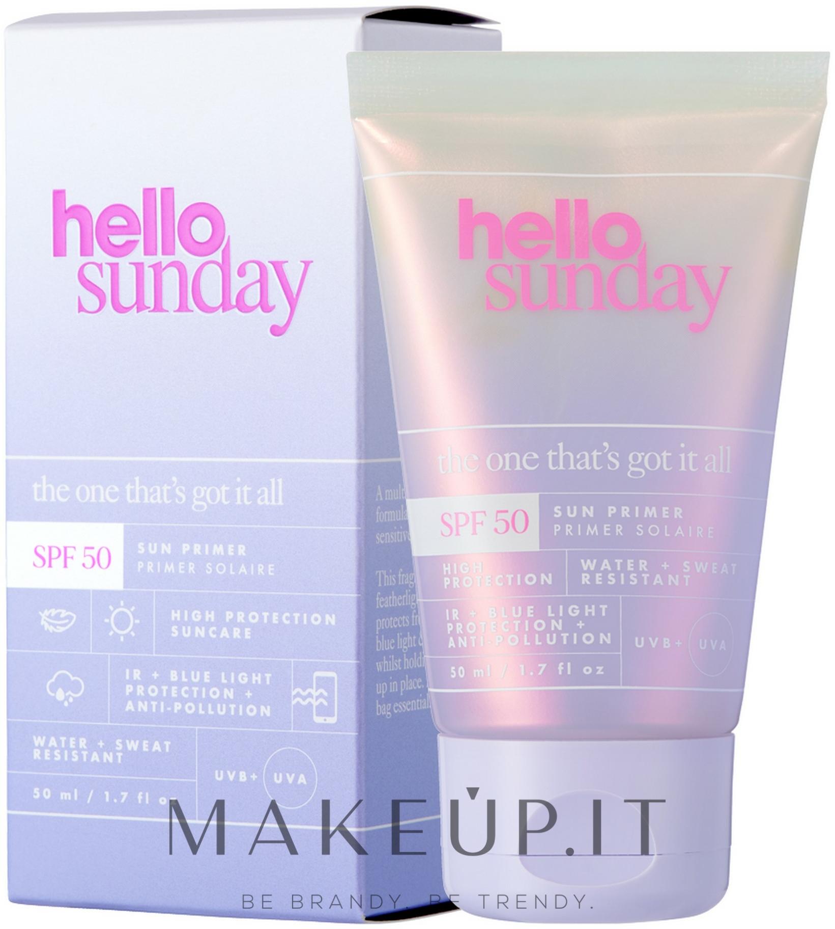 Primer viso SPF 50 - Hello Sunday The One That's Got it All Face Primer SPF50 — foto 50 ml