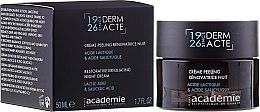Profumi e cosmetici Crema esfoliante rigenerante, da notte - Academie Peeling Renovatrice Nuit Acide Lactique & Acide Salicylique