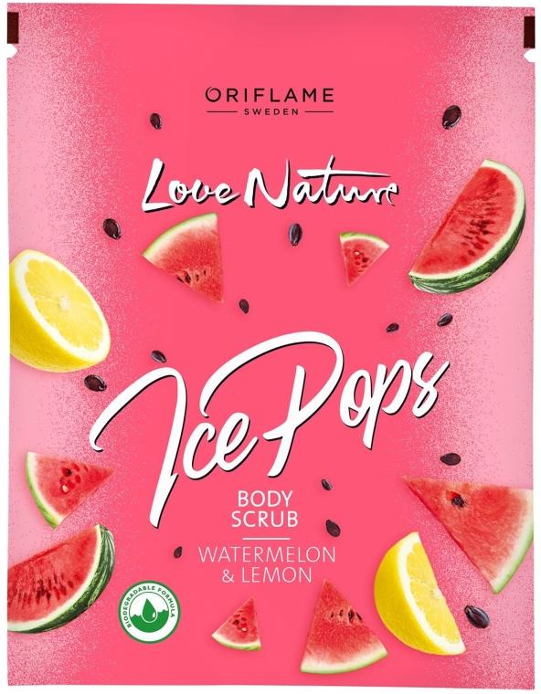 "Scrub corpo ""Anguria e limone"" - Oriflame Love Nature Ice Pops Watermelon & Lemon Body Scrub — foto N1"