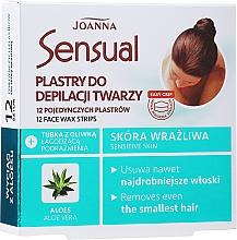 Profumi e cosmetici Strisce depilatorie con estratto di aloe vera - Joanna Sensual Depilatory Face Strips