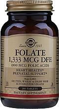 "Profumi e cosmetici Integratore alimentare ""Acido folico"" in compresse - Solgar Folate 1,333 MCG DFE (800MCG Folic Acid) Tablets"