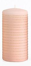 Profumi e cosmetici Candela decorativa, oro rosa, 7x14 cm - Artman Andalo